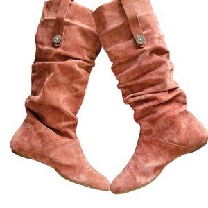UGG Australia Highkoo Womens Suede Slouchy Boot